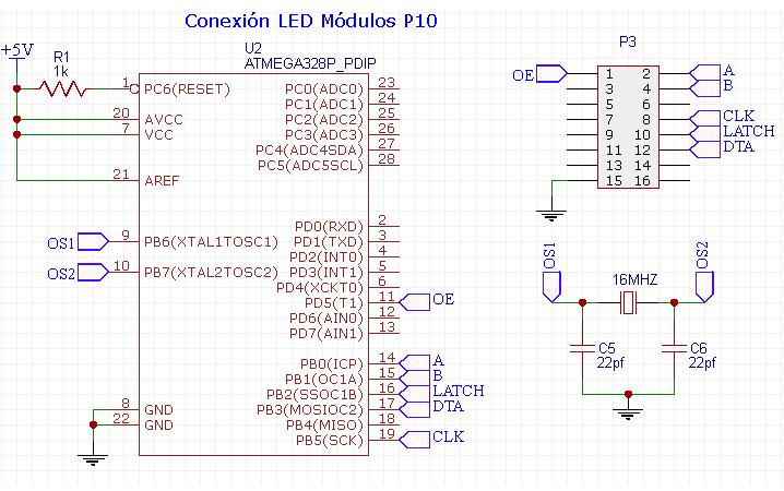 CONEXION LED P10