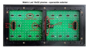 matriz led para letrero led