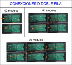 Conexión doble fila Led Matriz
