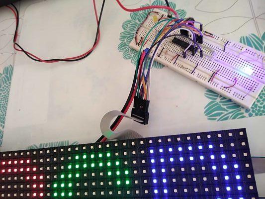 Matriz led RGB con AVR, PIC