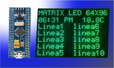matriz led con stm32f103